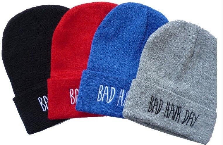 2014 Sport Winter Bad Hair Day Beanie Cap Men Hat Beanie Knitted Winter Hats hiphop For Women Fashion Caps Hot Sale 4 ColorÎäåæäà è àêñåññóàðû<br><br><br>Aliexpress