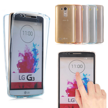 May miky For LG G3 G4 G5 Case Cover Soft 360 TPU Full body Protective Crystal Clear front back Phone Cases(China)