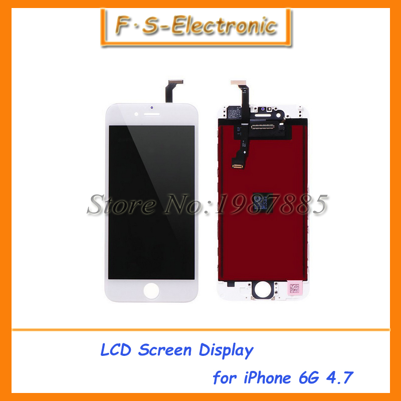 10pcs/lot Free Shipping DHL For iPhone 6 4.7 6G LCD Display+Touch Screen Digitizer+Frame Assembly White Black<br><br>Aliexpress