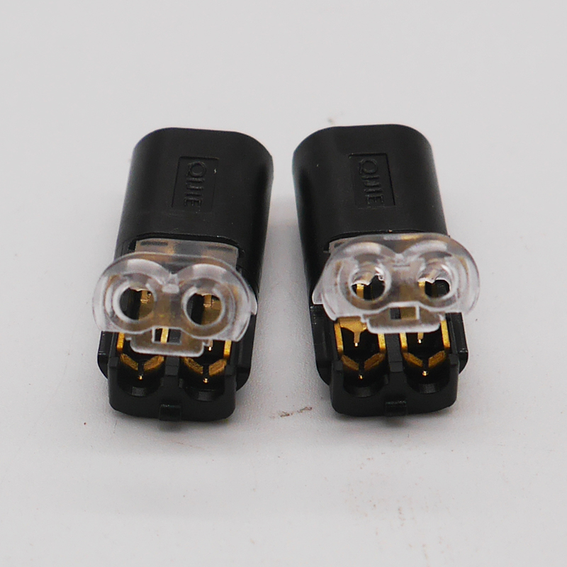 Details about  /Free Shipping 5-100 Pcs 2 Pin Way Spring Scotch Lock Connector 24-18AWG Wire