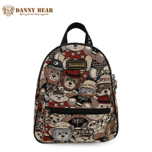 DANNY BEAR Small Female Backpacks Teenager Girl Cute Back Pack Bags For School/Shopping Student Casual Fashion Kawaii Travel Bag(China)