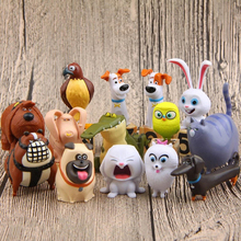 14pcs/lot Lovely Pet Collection Cartoon Animals Dogs Pugs Cats Rabbit PVC Action Figure Figurines Kids Christmas Gift Home Decor