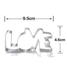 Lover Series Design Stainless Steel Cookie Cutter LOVE Letter Shape Forms For Biscuit Mold Bakeware Pastry Confectionery Tools