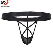 Buy Jockstrap Mens Thongs Penis Pouch Sexy Gay Underwear Men Transparent String Homme Sexy Erotic Homens Mens Thongs G Strings