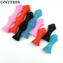 4 Set/Lot  Archery Bowstring Finger Saver Tab Finger Guard Sever Soft Silicon Bow String Protector Gear Outdoor Shooting