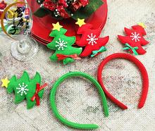 6pcs/lot Christmas Headband Party Decoration Christmas Tree Hair Bands christmas gifts decorations for Party Holiday