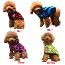 2017 New Pet Dog Clothes Sping Summer Service Dog Vest Clothing Puppy Cotton Striped T-shirt Dog Clothes for Small Dogs Costumes