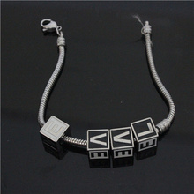 20cm 1cm Lovers LOVE Nice Bracelet 316L Stainless Steel Christmas Love Bracelet