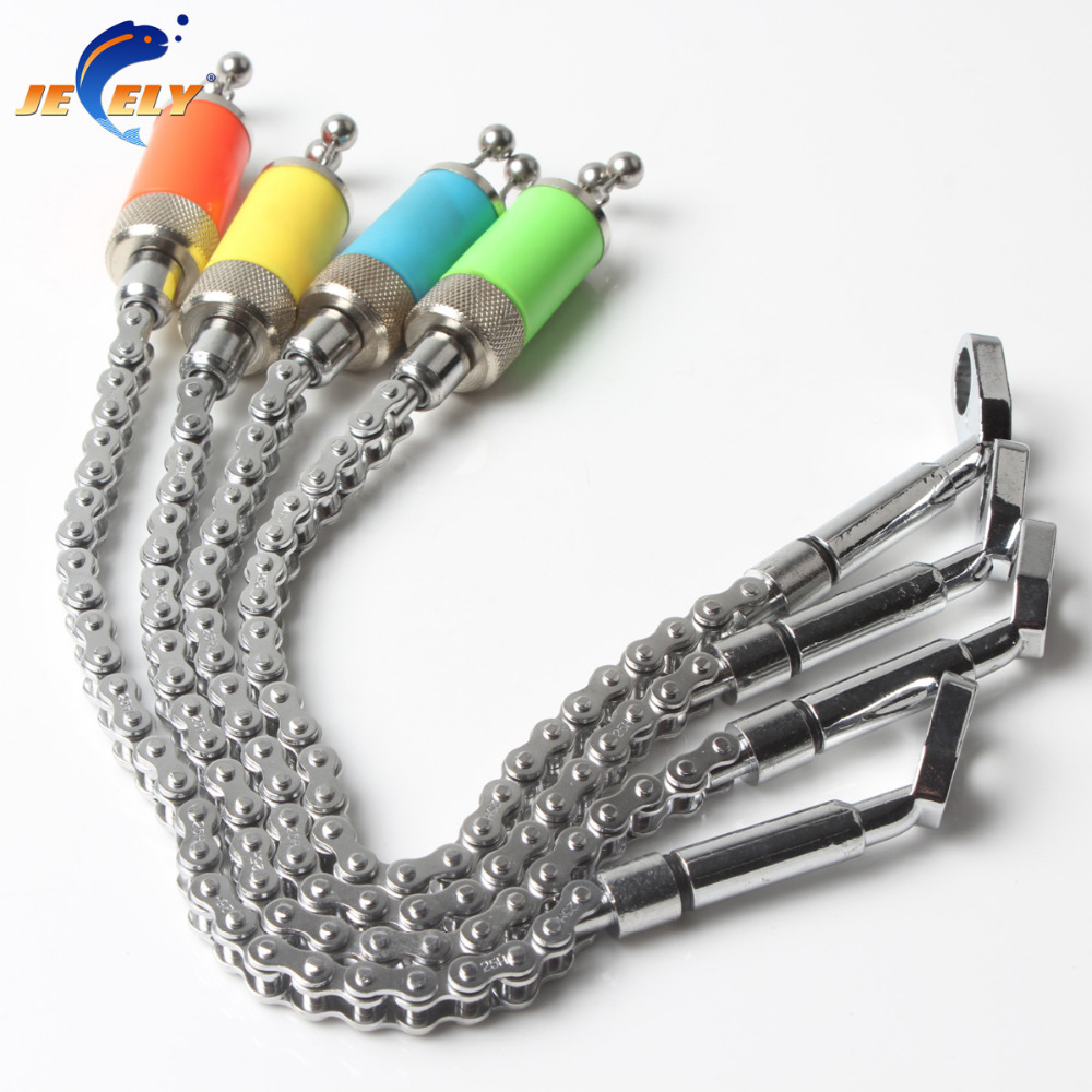 Fishing Swinger Steel Chain Stainless Steel Aluminum Set Swinger Carp Fishing Indicator 4 Colors for bite alarm