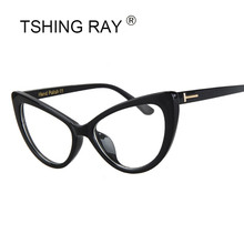 TSHING RAY Fashion Clear Cat Eye Sunglasses Women Tom Brand Designer Female Cateye Sun Glasses For Ladies Gradient Eyewear UV400(China)