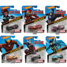 Hot Wheels 1:64 Fast Furious Marvel Character Diecast Car Iron Man America Captain ANT-MAN Black Widow Wolverine Collection Cars(China)