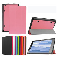 50PCS/Lot High Quality Voltage Stand Leather Cover For LG GPad X 8.3 Luxury Case(China)
