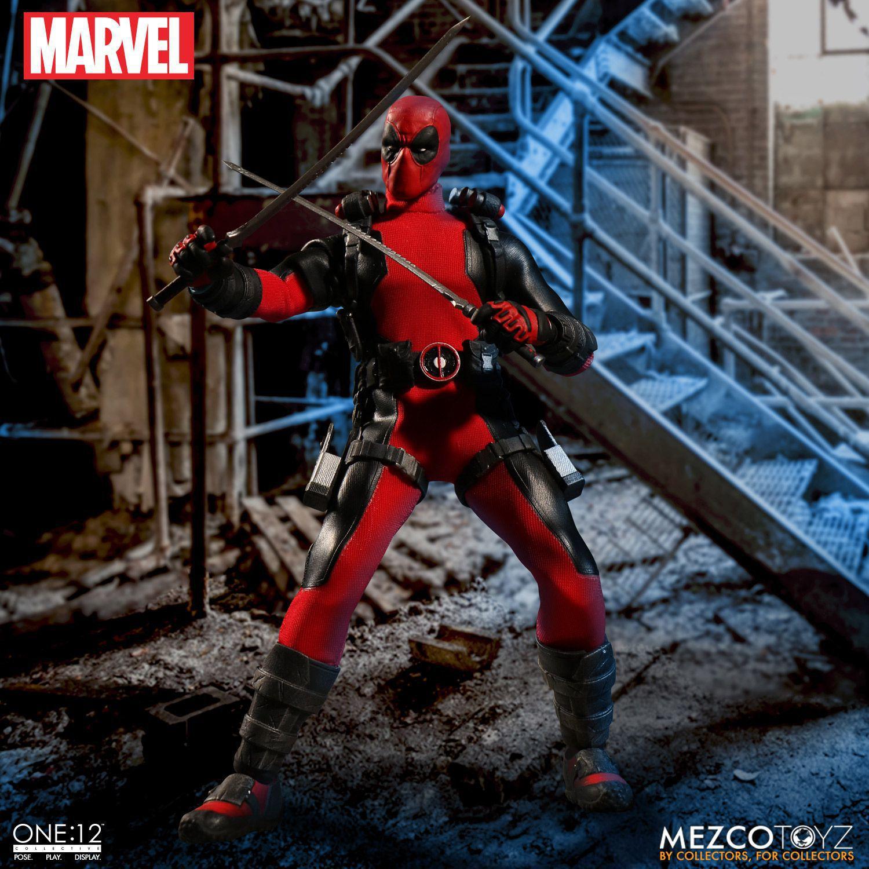 Mezco Marvel Deadpool X-Men Super Hero One:12 Collective BJD Figure Toys 16cm<br>