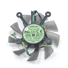 Computer Cooler Fan EVERFLOW R128015SU FD8015U12S  DC 12V 0.50AMP 4Pin PWM 75MM Cooling Fan For ASUS EAH5830 GTS 260 450 Used