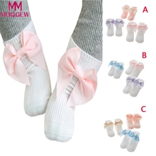3 Pairs Baby Unisex Toddler Infant Girl Boy Bowkont Socks Solid Anti Slip Socks Cute Winter Baby Boy Girl Socks(China)