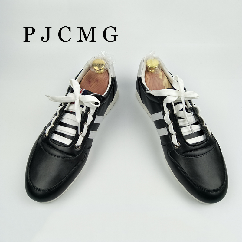 2017 New Spring And Autumn Men Shoes Flats Canvas Lace-Up Black/White Casual Zapatos Patchwork Hombre Men Shoes<br><br>Aliexpress