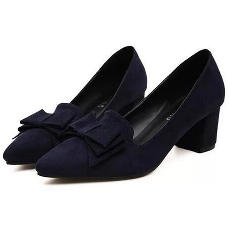 Fashion shoes woman 2016  Woman Shoes high heels pumps pointed loafers shallow mouth bow ladies shoes Big size 34-41 X327<br><br>Aliexpress