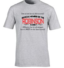 Robinson Family Surname T-Shirt Birthday Gift Any Name Can B Added 80th 30th Hipster Tees Summer Mens T Shirt Short Sleeve