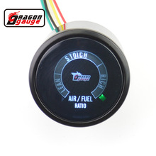 Dragon gauge 52mm Color LED Car Motor Digital LED Air Fuel Ratio Gauge Lean SToich Rich Ext tempFree Shipping(China)