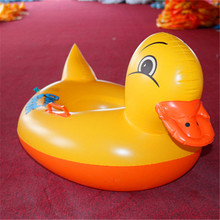 Small yellow duck swim ring inflatable thick duck child baby seat 2017 new(China)