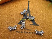 15pcs bird charm Antique Tibetan Silver  2 sided bird pendants charms  19x13mm