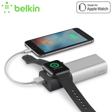 Belkin Original Power Bank 6700mAh External Battery Wireless Charger for Apple Watch+iPhone for iPhone7 Mobile Phone F8J201bt