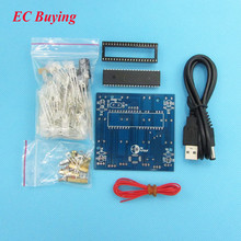 Red Blue 51 Monolithic Integrated circuit DIY Electronics Design Kit is Cube4*4*4 DIY KIT(China)