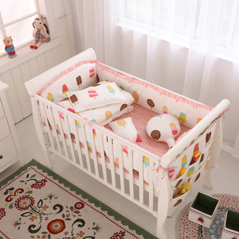 Baby Care Product Baby Nursery Bedding Sets, Bedding For Baby Under 2 Years Old, Sweet Ice Cream Baby Girl Crib Bedding Sets