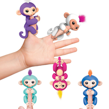 2017 New Fingerlings Interactive Baby Monkeys Toy Smart Colorful Fingers Llings Smart Induction Toys Christmas Gift Toy For Kids