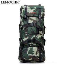 Super large capacity 70l outdoor mountaineering travel hiking Sports Camping backpack High quality Climbing man rucksack bag