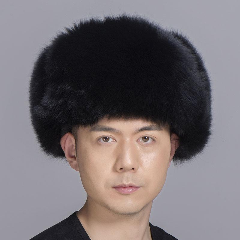 big fur hat black fox fur 0