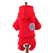 High-quality Pet Dog Puppy Clothes Sports Small Dog Coat Hoodies Costume Cotton Solid Clothing For Pets Teddy Chihuahua Apparel(China)