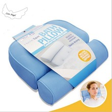 SPA bath baby pillow comfortable for neck & back 3D Jacuzzi Tub With Sucker Anti-skid Bathing Cushions Non-slip Bath Pillows(China)