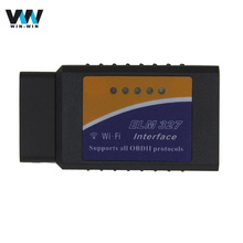 ELM327 wifi v1.5 OBD2 OBDII Auto Diagnostic Scanner Tool elm 327 wifi v1.5 works for Both Android / IOS OBD2 Wifi Scanner