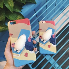 Squishy Mobile Phone Cases 3D Cat Phone Cover for IPhone 7 Case 7 Plus Case Silicone For Iphone 6 6S plus Ipone Case Coque Capa(China)