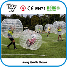 Free Shipping 12pcs (6pcs Red+6pcs Blue+2pc Blower)1.5M PVC Good Quality Bubble Soccer, Body Zorb Ball, Bubble Ball Suits.