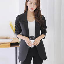 Plus Size Casual Slim Women Jacket Blazer Female Business Suit Female Jackets Elegant Bleiser Mujer 2017 Ladies Coats 50N0514(China)
