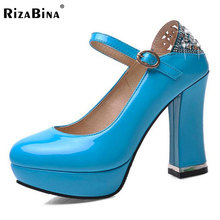 RizaBina women high heel shoes platform sexy lady party quality footwear brand heeled pumps heels shoes size 33-43 P17354