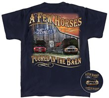 Jzecco Funny Tops Tee Casual O Neck66 Mustang & 69 Mach 1 T-shirt - A Few Horses Tucked In The Barn - T's(China)