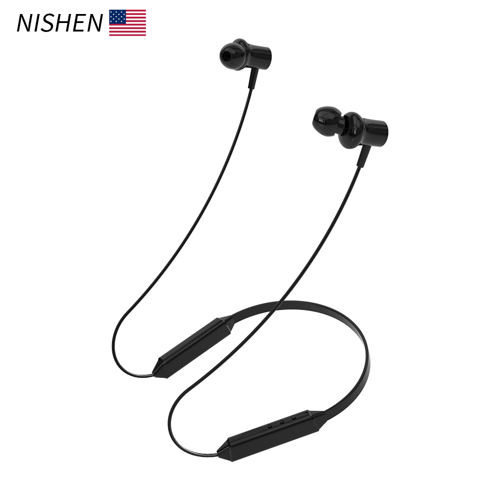 Bluetooth Earphone Wireless Headphones Running Sports Bass Sound Cordless Ear phone With Microphone For Iphone Xiaomi Earbuds(China)