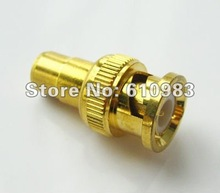 Free shipping (5 pieces\lot) BNC - RCA Adapter RCA Jack female to BNC plug male goldplated connector for Video Camera CCTV