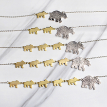 1-5 Cubs Bears Pendant Necklace Silver Mama Bear Gold Baby Bears Animal Necklaces For Mother Mom Kids Children Family Jewelry(China)