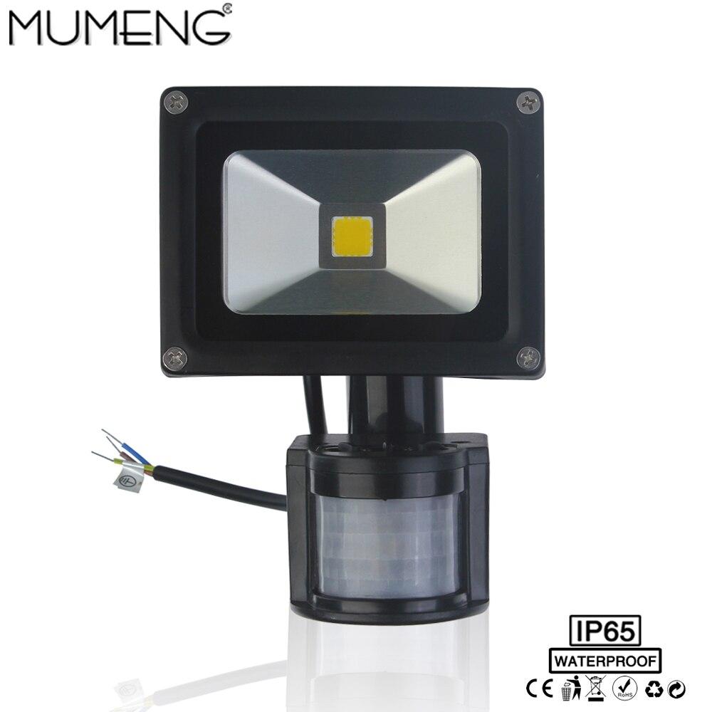 MUMENG LED Floodlight 10W 20W Motion sensor Outdoor Lamp PIR Spotlight IP65 Waterproof 110v 220v Aluminum Garden Yard Light<br><br>Aliexpress
