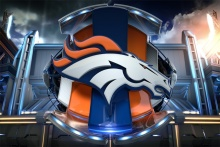 Custom Canvas Art Denver Broncos Logo Wall Stickers Super Bowl Poster American Football Wallpaper Christmas Decoration #2525#