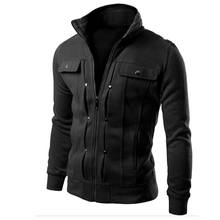 Jacket Men Brand Clothing Mens Jackets Coats Zipper Fashion Fake Pocket Design Male Jacket Jaqueta Masculino Casacas Para Hombre