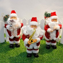 Amazing Childrens Gift Christmas electric Santa Claus Toys With Music Fashion Home Christmas Decoration TB Sale(China)
