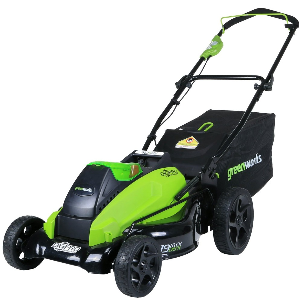 2017 new arrival 1200 m GreenWorks 2501302 G-MAX 40V 19-Inch Cordless Lawn Mower, 4AH Battery & Charger Included@(China (Mainland))