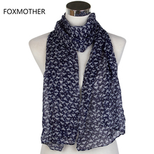 FOXMOTHER New Lightweight Soft Girls Black Navy Cat Scarf Kids Children