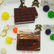 1PC New Memo Pads Bookmarks Excellent Quality DIY Portabl Notebook Chocolate Cover Notepad School Stationery Office Supplies(China)