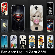 For Acer Liquid Z320 Z330 Soft Silicone tpu Plastic Mobile Phone Cover Case DIY Color Paitn Cellphone Bag Shell Free Shipping